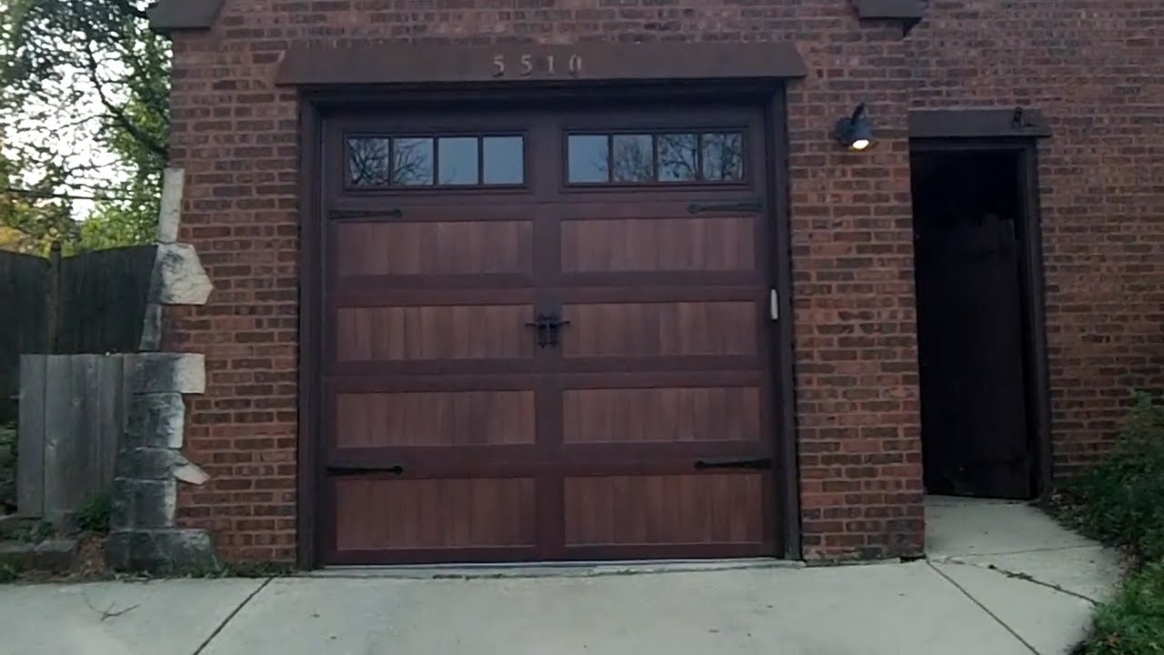 Chi Accents Mahogany Garage Doors Beautiful Youtube