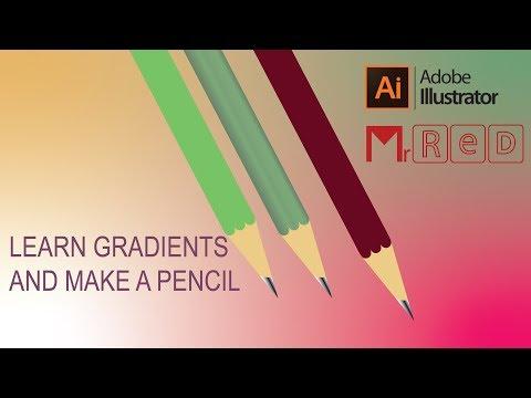 Adobe Illustrator - tutorial  Create Realistic Pencil thumbnail