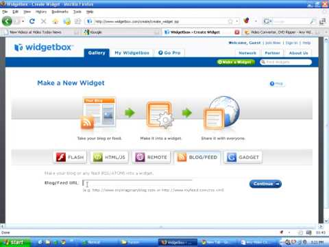 How to make a widget from any RSS feed to add to your blog or website.