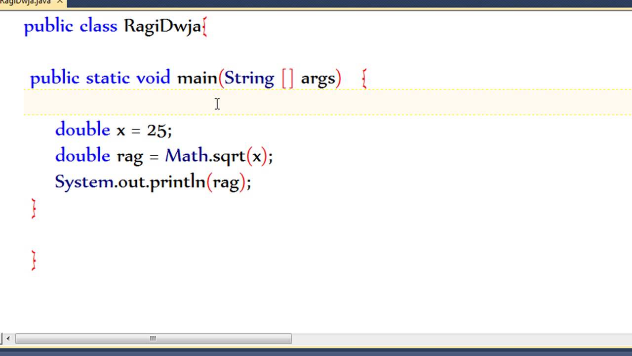 how to write square of a number in java