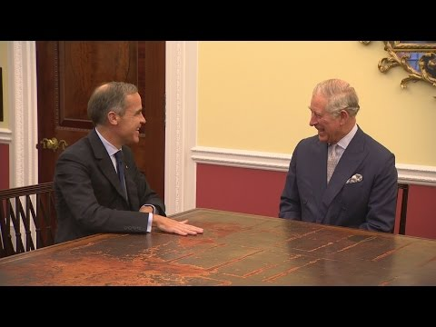 Prince Charles gets personal tour of Bank of England