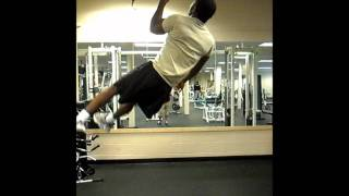 19 one arm pull ups. (10 right arm, 9 left arm)
