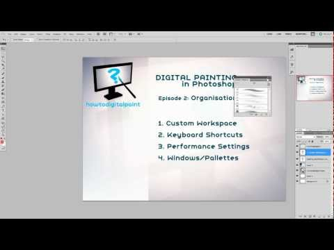 Ep 2: Organisation – Digital Painting in Photoshop Series. Basics to Advanced.