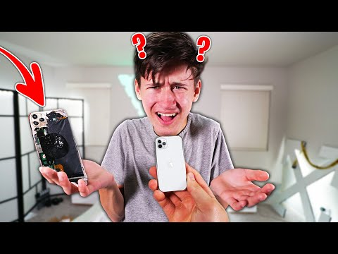DESTROYING My Brother's IPhone 11 Pro, Then Buying Him A TINY IPhone! (Funny)