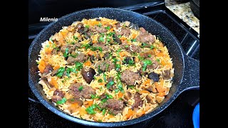потрясающий УЖИН  в одной сковороде за 30 мин.  Очень вкусно и семья довольна!