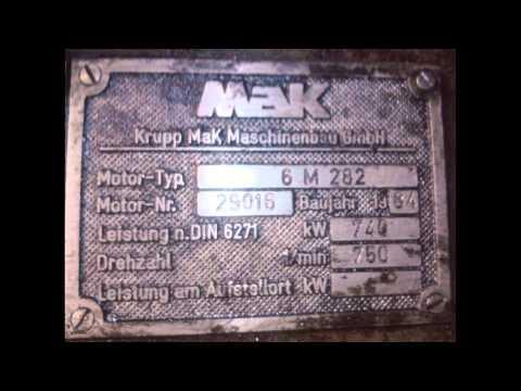 MAK 6M 282 AK marine Diesel Generator for Sale