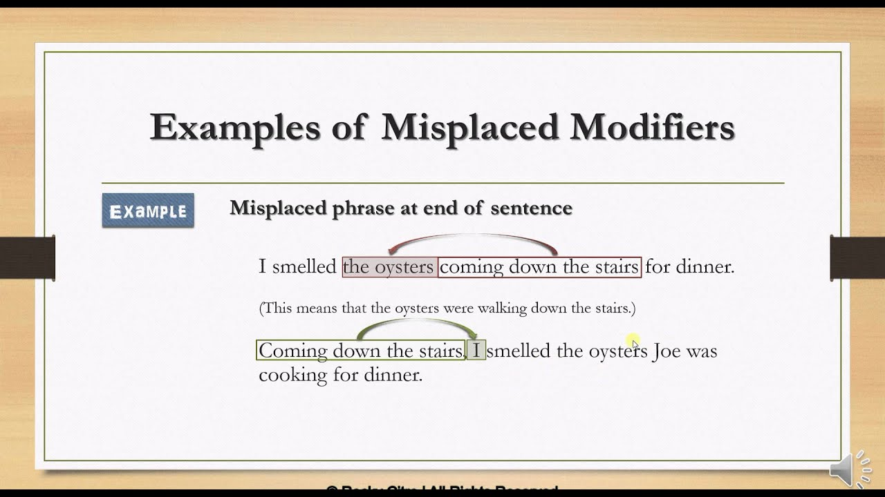 misplaced modifier examples