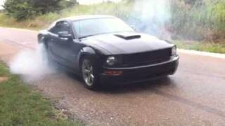 My fiance's first burnout.