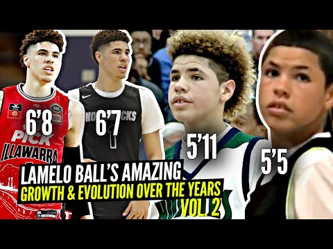 LaMelo Ball's Amazing Evolution Through The Years Vol. 2! From 5'5 13 Y/O to 6'8 18 Year Old!