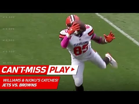 Williams & Njoku Come Down w/ Crazy Circus Catches! 🎪   Can't-Miss Play   NFL Wk 5 Highlights