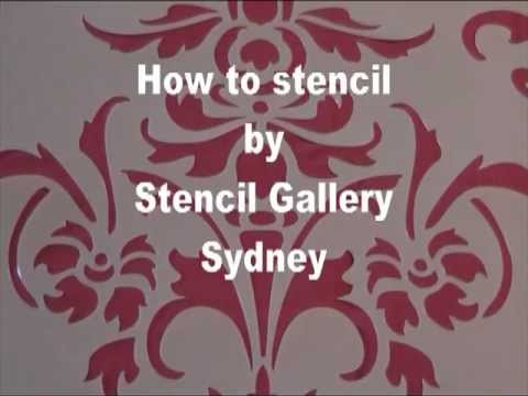 How to stencil by Stencil Gallery, Sydney