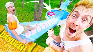 We Built A Backyard Tree House WATER PARK!