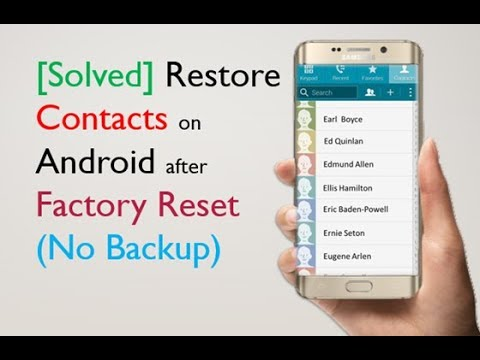 How to Restore Contacts on Android after Factory Reset