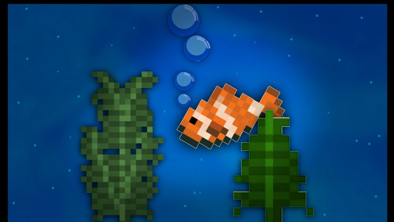 Minecraft pe how to make a fish tank warning very easy for How to fish in minecraft pe