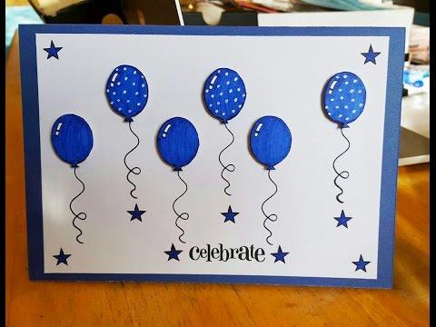 Balloon Birthday Card Tutorial - GiftBasketAppeal