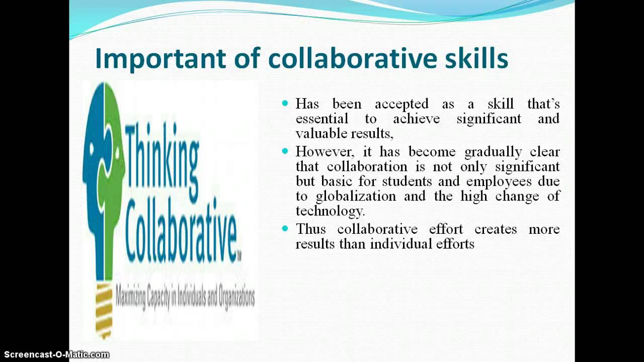 Know the real skills lesson4 Collaboration skills - YouTube