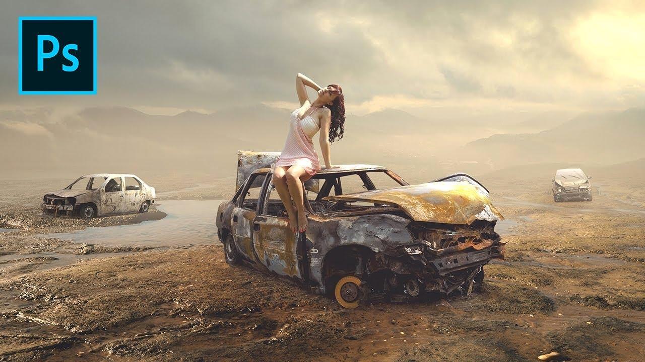 Photoshop Tutorial – Fantasy Photo Manipulation Woman Wreck
