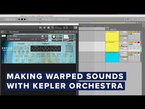 Making Warped Sounds with Kepler Orchestra