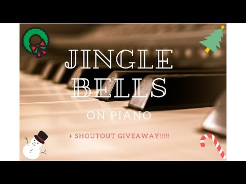 How to play Jingle Bells on Piano + SHOUTOUT GIVEAWAY!!  #easy