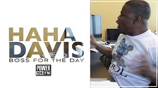 HaHa Davis Takes Over Power 106 As BOSS Of The Day