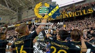 Hammarby - AIK 0-1 (2018.05.20) Derby, Tifo, Pyro