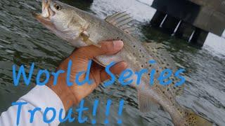 Lake Pontchartrain Trestle Trout Jigging Big Baits!!!!!!!