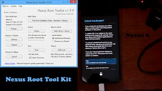 Nexus 6 NRT Unlock bootloader, Root, And TWRP Recovery all in one Tool