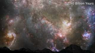 Milky Way and Andromeda Galaxy: Head-on collision