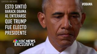 ¿Cómo reaccionó Obama la noche en la que Trump fue electo presidente?