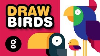 How to DRAW BIRDS - Easy and Fun