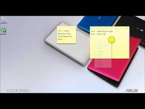 how to open sticky notes for windows 8