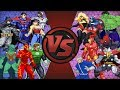 JUSTICE LEAGUE vs AVENGERS (DC vs Marvel) Animation HD Remastered | Cartoon Fight Club Remastered