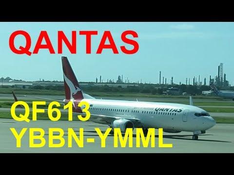 Flight report   Qantas Airways QF613   Brisbane to Melbourne   B737-800