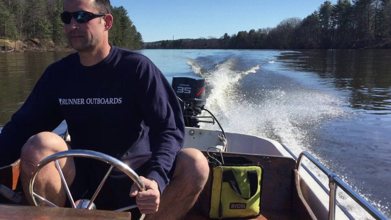35HP Evinrude LS on 13' mid-80's Whaler