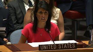Haley addresses UN about North Korea sanctions