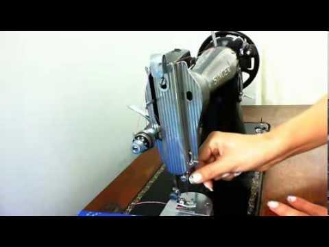Enhebrado máquina de coser Singer - YouTube