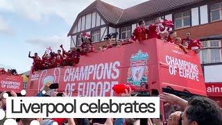 Liverpool Fans Celebrate Champions League Win Over Tottenham