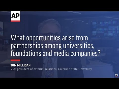 What opportunities arise from partnerships among universities, foundations and media companies?