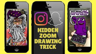 HOW TO ZOOM - Hidden Snapchat / Instagram Drawing Trick TUTORIAL (iOS and Android)