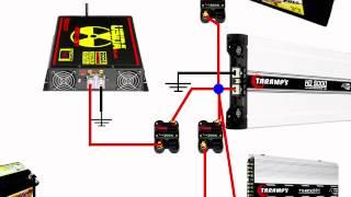 Esquema de como instalar uma fonte automotiva e bateria auxiliar passo a passo