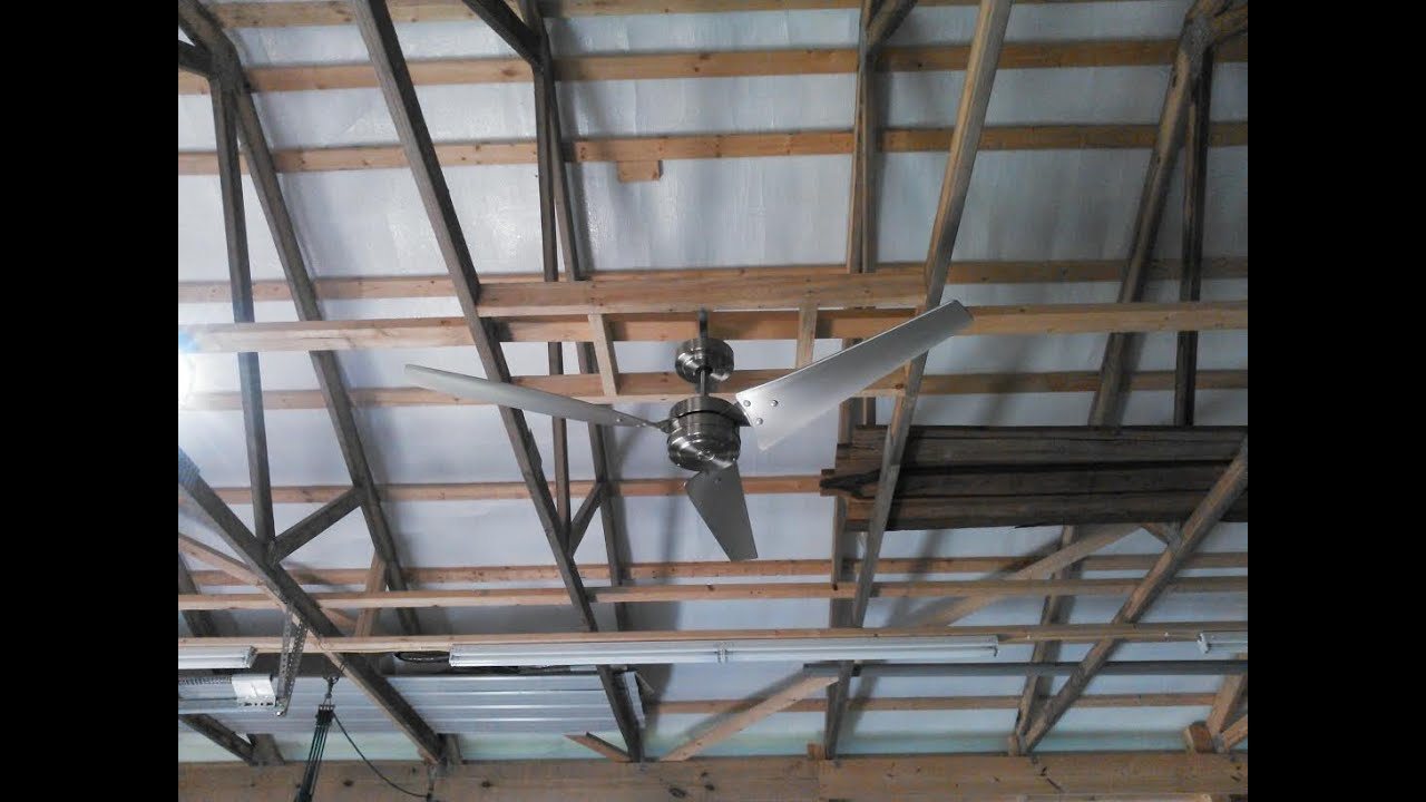Emerson CF765BS, Loft Brushed Steel Ceiling Fan Install