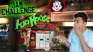 DO NOT VISIT A FUN HOUSE AT 3 AM // SCARY 3AM CHALLENGE IN HAUNTED FUN HOUSE!