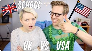 One of Evan Edinger's most viewed videos: School! British VS American! | Evan Edinger & Emma Blackery