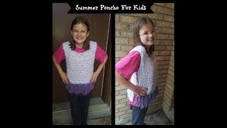 How To Make a Summer Poncho For Kids