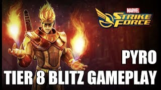Pyro Tier 8 Blitz Gameplay - Marvel Strike Force