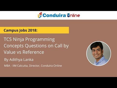 TCS Ninja Programming Concepts Questions on Call by Value vs