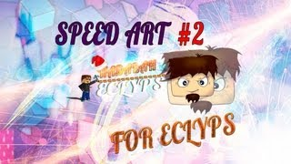 [#2]Speed Art for Eclyps [Шапка Юутб]