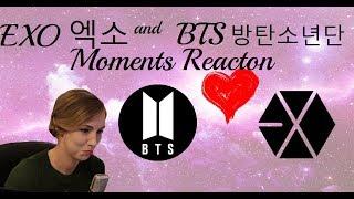Exo 엑소  & Bts 방탄소년단 Moments Reaction