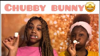 CHUBBY BUNNY CHALLENGE FT. LIL SIS (VERY FUNNY)