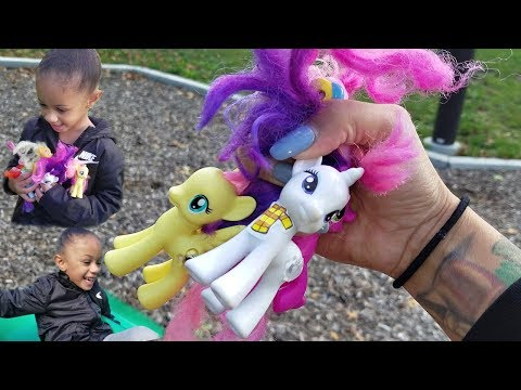 My Little Pony Pretend Play Hide and Seek at Kids Playground